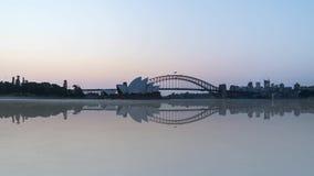 Tag zur Nachtsonnenuntergangszene folgte vom Mond, der in Sydney eingestellt wurde stock video