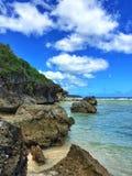 Tagachang strand i Guam arkivfoto