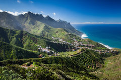 Taganana Town. Scenic view of Taganana town on the island of Tenerife, Canary Islands, Spain Royalty Free Stock Photography