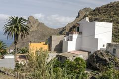Taganana village. On the island of Tenerife, Canary Islands Spain. You can see the ocean in the background Royalty Free Stock Images