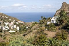 Taganana village. On the island of Tenerife, Canary Islands Spain. You can see the ocean in the background Royalty Free Stock Photography