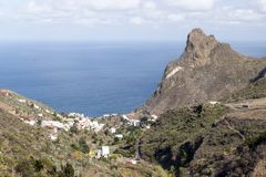 Taganana village. On the island of Tenerife, Canary Islands Spain. You can see the ocean in the background Stock Photo