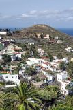 Taganana village. On the island of Tenerife, Canary Islands Spain. You can see the ocean in the background. It´s a vertical picture Royalty Free Stock Images