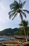 Taganga. Beach of Taganga a fishing village in the caribbean sea , colombia Royalty Free Stock Photo