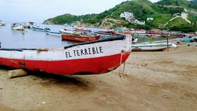 Taganga beach in colombia stock images