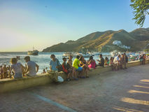Taganga Boardwalk in Colombia Royalty Free Stock Photos