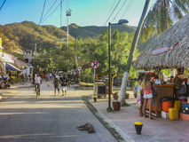 Taganga Boardwalk in Colombia Royalty Free Stock Photo