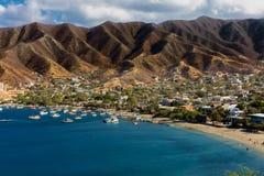 Taganga linii horyzontu pejzaż miejski Magdalena Kolumbia obrazy stock