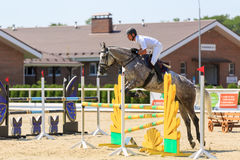 TAGANROG, ROSTOV-ON-DON REGION, AUGUST 6, 2017: Competitions in equestrian sport, devoted to the Day of Liberation of the Neklinov Royalty Free Stock Image