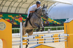 TAGANROG, ROSTOV-ON-DON REGION, AUGUST 6, 2017: Competitions in equestrian sport, devoted to the Day of Liberation of the Neklinov Royalty Free Stock Photos