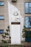 TAGANROG, RUSLAND - DECEMBER 12, 2015: Monument van Giuseppe Garibaldi stock afbeeldingen