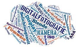 Tagcloud around Photography. Word cloud about Digital Photography vector illustration