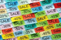 Tagcloud de vente Photographie stock libre de droits