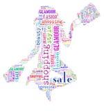 Tagcloud op consumentisme royalty-vrije illustratie