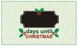 Tage bis Weihnachten Lizenzfreie Stockfotos