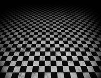 Étage Checkered et de marbre Images libres de droits