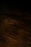 Étage de bois dur historique de brun foncé Photos libres de droits