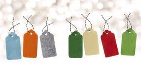 Tage de la venta Etiquetas del regalo Etiquetas de la venta Etiquetas grises de las compras Oferta especial y promoción Almacene  fotografía de archivo libre de regalías