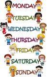 Tage der Woche Lizenzfreies Stockfoto