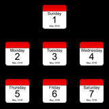 Tage der Woche Lizenzfreie Stockfotografie