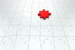 Étage des parties de puzzle denteux Image libre de droits