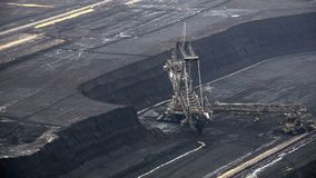 Tagebau Hambach: εκσκαφέας κάδος-ροδών σε ένα ορυχείο λιγνίτη απόθεμα βίντεο