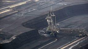 Tagebau Hambach :桶轮子挖掘机在褐煤矿 股票视频