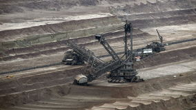 Tagebau Hambach: bucket-wheel excavator in a lignite mine stock video