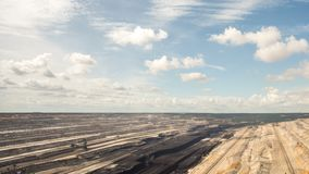 Tagebau Hambach: strip mining lignite time lapse stock video footage