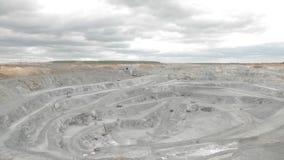 Tagebau panoram stock footage