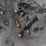 Tagebaubergwerk, sortierende Zucht, Bergbaukohle, mineralgewinnende Industrie Lizenzfreie Stockbilder