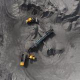 Tagebaubergwerk, sortierende Zucht, Bergbaukohle, mineralgewinnende Industrie Stockfoto