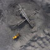 Tagebaubergwerk, sortierende Zucht, Bergbaukohle, mineralgewinnende Industrie Lizenzfreie Stockfotografie