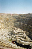 Tagebaugrube lizenzfreie stockbilder