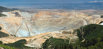 Tagebaugrube Stockbild