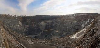 Tagebaugrube, Panorama Lizenzfreie Stockbilder