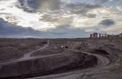 Tagebaugrubeabfall Stockfoto