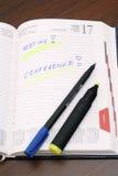 Tagebuch Lizenzfreie Stockfotos