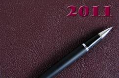 Tagebuch 2011. Stockfotos