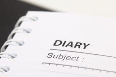 Tagebuch Lizenzfreies Stockfoto