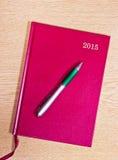 Tagebuch 2015 Stockfotografie