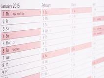 Tagebuch 2015 Stockbilder