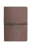 Tagebuch auf dem weißen Hintergrund Stockfotos