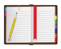 Tagebuch auf einem weißen Hintergrund Lizenzfreie Stockbilder