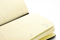 Tagebuch auf weißem Hintergrund Lizenzfreie Stockbilder