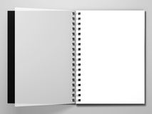 Tagebuch auf weißem Hintergrund Wiedergabe 3d stock abbildung
