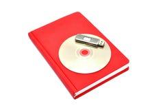 Tagebuch, Blinkenlaufwerk und Cd Lizenzfreie Stockbilder