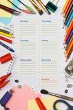 Tagebuch der Schule eines Kursteilnehmers Lizenzfreie Stockbilder