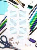 Tagebuch der Schule eines Kursteilnehmers Lizenzfreie Stockfotos
