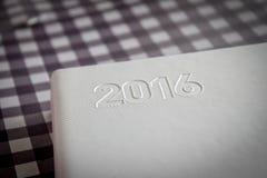 Tagebuch 2016 des neuen Jahres Stockbild